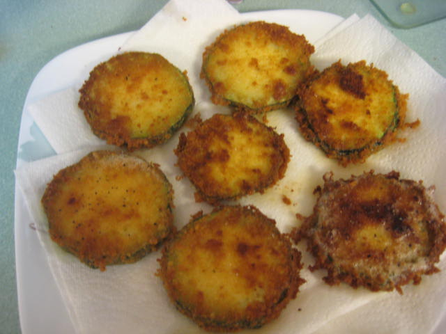 Fried Zucchini Done