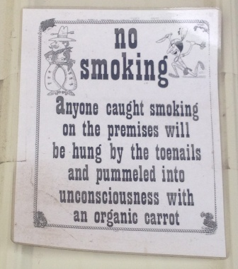 Funny No Smoking Sign