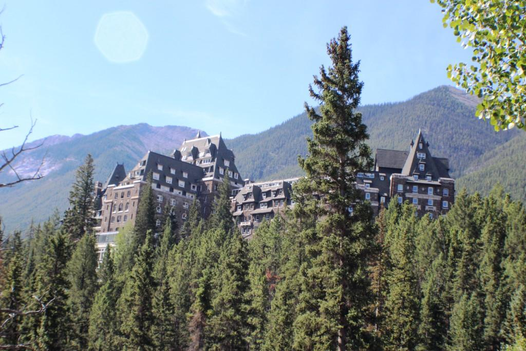 The iconic Fairmont hotel in Banff.
